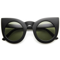 Designer Oversize Round Circle Pointed Cat Eye Sunglasses 9180