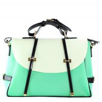 Mint Candy Color Foldover Jelly Bag - Retro, Indie and Unique Fashion