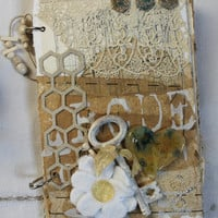 Junk Journal,Vintage Altered Album,Altered book,Shabby Album,Mixed Media,Handmade Journal,Scrapbook,Mini Album,Handmade book