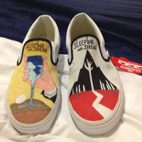 Custom Sleeping with Sirens VANS by NickisKicks on Etsy