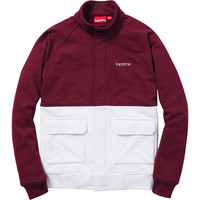 Supreme: Fleece Warm Up Jacket - Burgundy