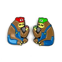 The Super Sloth Brothers Pin Set