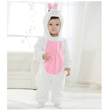 Rabbit romper infant toddler easter clothes baby boy girl animal rabbit costumes flannel baby autumn clothes photography props