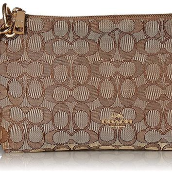 COACH Womens Outline Signature Charley Crossbody