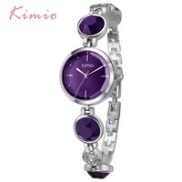 KIMIO Fanshion Quality Crystal Diamond Bracelet Quartz Watches Woman Watches 2017 Brand Luxury Ladies Wrist Watches For Women
