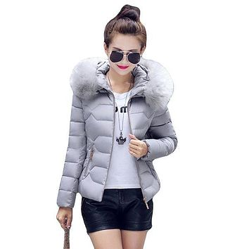 Women's Cotton Down Jackets Female Cotton-Padded Winter Coat