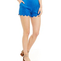 RD Style Faux-Suede Scalloped Shorts | Dillards