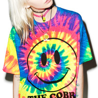 The Cobra Shop Happy On Ecstasy Tee Tie Dye X-Large