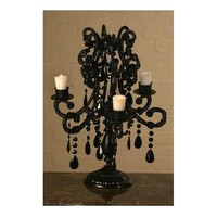 Antique French Style Black Candelabra