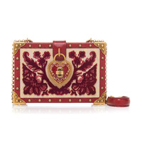 Heart Lock Wood Box Clutch | Moda Operandi