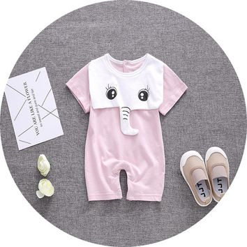 baby boy brand newborn romper girl rompers tiny cottons baby jumpsuit elephant New baby clothes vestido infantil