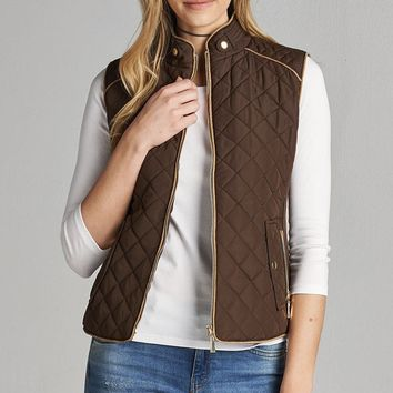 Stylish Quilted Plus Vest