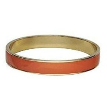 Enamel Bangle Bracelet 16k Gold Plated Orange