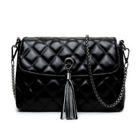 Casual Quilted Tassel High Quality Chain Crossbody Bag