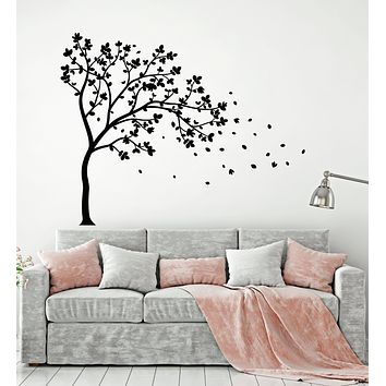 Vinyl Wall Decal Autumn Nature Tree Branch Leaves Forest Art Stickers Mural (g1178)
