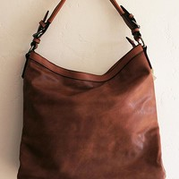 Brown Soft Faux Leather Tote Purse with Handheld and Adjustable Shoulder Strap