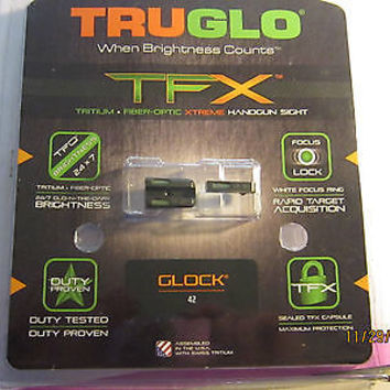 TRUGLO TFX TRITIUM FIBER OPTIC HANDGUN SIGHT