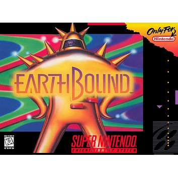 Retro Earthbound Game Poster//SNES Game Poster//Video Game Poster//Vintage Game Reprint