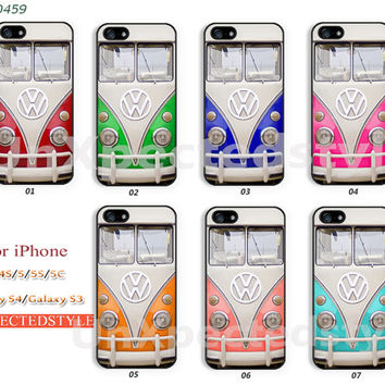 Phone Cases, iPhone 5 Case, iPhone 5S/5C Case, iPhone 4/4S Case, Samsung Galaxy S4 case, Galaxy S3 case Volkswagen mini bus -400459