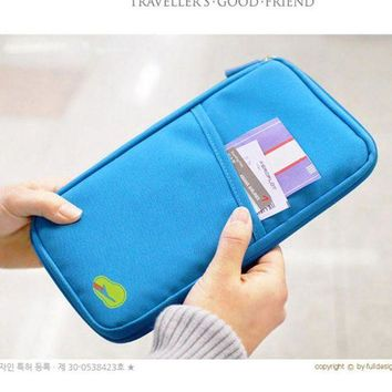 DCCKU62 2017 Passport Wallet Travel use Polyester Multifunction Credit Card Package ID Holder Travel Bag for Documents/Card/cash