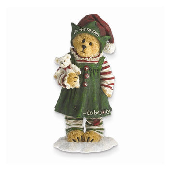 Boyds Elf Bear Holding Bear Figurine - Perfect Christmas Gift