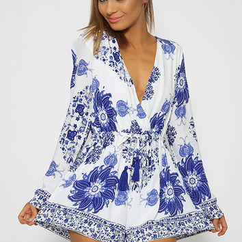 Queenly Playsuit - Floral