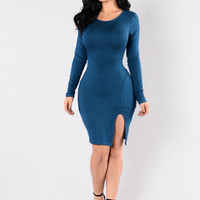 Just Like Fire Dress - Olympic Blue