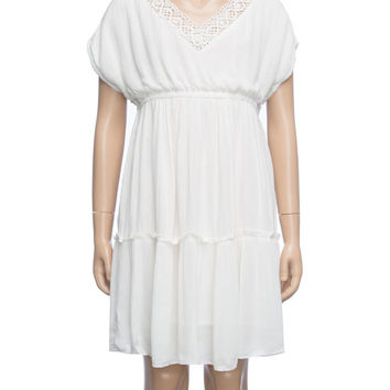 O'neill Lila Girls Dress Cream  In Sizes