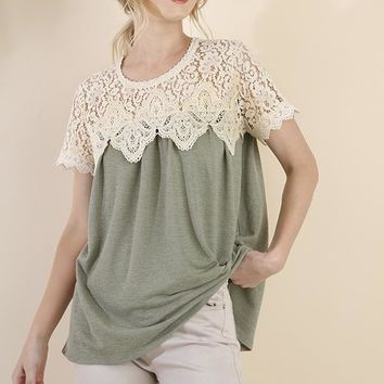 Layered Crochet Tee