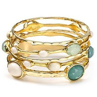 RJ Graziano Sea Multi Stone Bangles, Set of 5 | Bloomingdale's