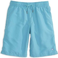 Boy's Solid Swim Trunk in Turquoise by Southern Tide