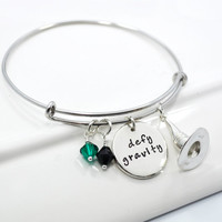 Defy Gravity Wicked Inspired Adjustable Bangle Bracelet
