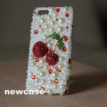 bling iphone 5 case clear iphone 5 case unique iphone case cute iphone  case luxury iphone 5 case red Swarovski Crystals