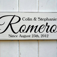 Vintage Style Family Name Established Sign Ideal Anniversary Or Wedding Gift