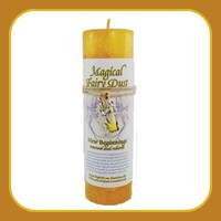 """""""New Beginnings"""" Pillar Candle with Fairy Dust Necklace"""