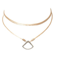 Honey Triangle Wrap Choker