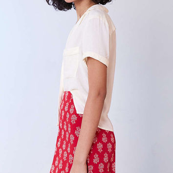 Cooperative Florence Short-Sleeve Button-Down Blouse - Urban Outfitters
