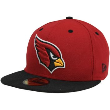 New Era Arizona Cardinals Two-Tone 59FIFTY Fitted Hat - Cardinal/Black