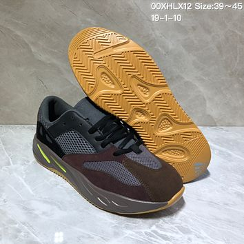 KUYOU A424 Kanye West x Adidas Yeezy Runner Boost 700 Fashion Running Shoes Maroon Gray