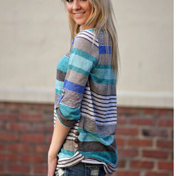 Stripe Roll-Up Sleeve Shirt