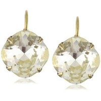 Sorrelli Mirage Single Drop Crystal Antique Gold-Tone Earrings - designer shoes, handbags, jewelry, watches, and fashion accessories