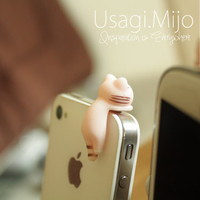 SALE30-70%OFF: Cute pink cat hanging iPhone Plug . Dust Plug . Phone Plug . Phone Charm cats, Kawaii, Lovely, Girly, Cat