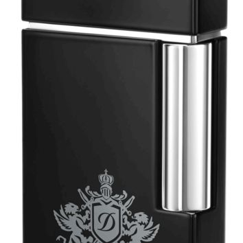S.T. Dupont Ligne 8 Blazon Lighter - Black Lacquer and Chrome