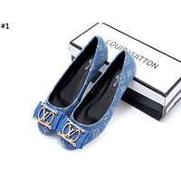 LV 2019 new female models personality wild single shoes #1