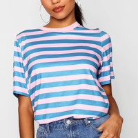 Stripe T-Shirt | Boohoo