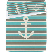 DENY Designs Home Accessories | Bianca Green Anchor 1 Sheet Set