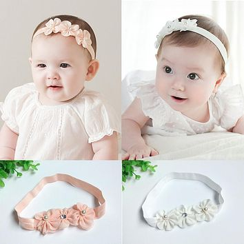 Baby Hair Bows Girls Headwear Retail New Fashion Hair Bands Lace Mix 3 Rose headbands Children Flower Hair Accessories Baby Girl