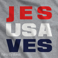 Patriotic T-Shirt Jesus Saves USA Shirts Religious 4th July Christian T-Shirts Men's Women's