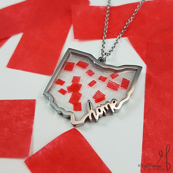 "Twenty One Pilots Ohio ""Home"" Necklace 