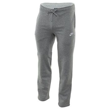 ONETOW Nike Mens Open Hem Fleece Pocket Sweatpants